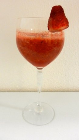 Strawberry Slushie: a cool drink for hot days.